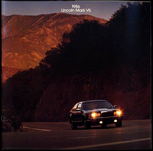 1986 Lincoln Mark VII sales brochure LSC & Bill Blass models