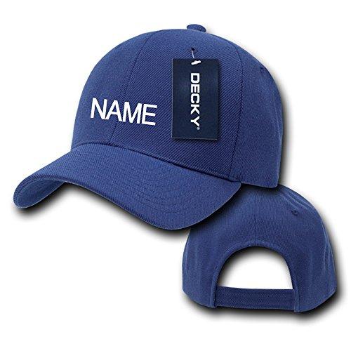 Custom Ball Caps (Custom Name Embroidered Velcro Adjustable Baseball Cap Hat (Navy))
