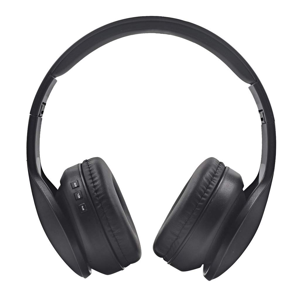 Bluetooth Headset, Boliaman Lightweight Retractable Bluetooth 5.0 Headphones for Sports&Exercise, Noise Cancelling Stereo Neckband Wireless Headset, Black