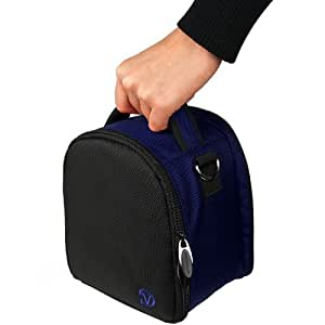 Travel Shoulder Bag Carrying Case (Blue) For Nikon Coolpix L820, L810, P520, P510, S9200, S9100 DSLR Camera