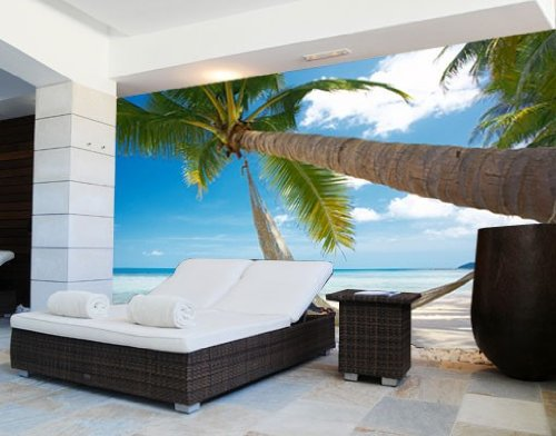 Papiertapete - Fototapete No.8 'TIME TO RELAX' 400x280cm Strand Meer Beach , Größe:280cm x 400cm
