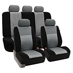 Looking for something new? Upgrade the look of your car with texture. We've added a panel of our 3D Air Mesh fabric to these covers to create a design that is contemporary and trendy. These beautifully designed seat covers are made of high qu...