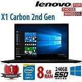 Lenovo ThinkPad X1 Carbon [2nd Generation] i7-4600U 8GB RAM 256GB SSD Windows 10 Pro (Certified Refurbished)