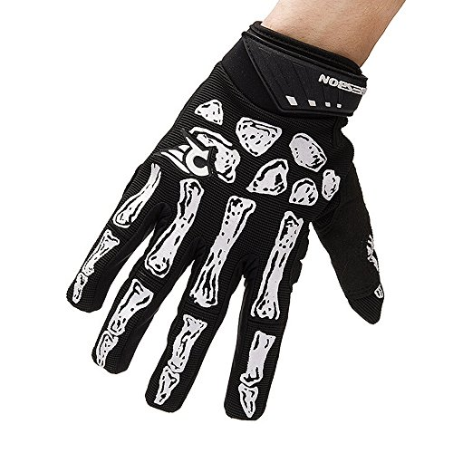 Ezyoutdoor Non-Slip Gel Pad Gloves Men's Women's Sportswear Bike Bicycle Cycling Riding Short Full Finger Gloves Breathable Mesh black color