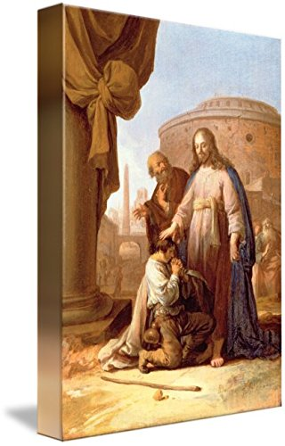 Imagekind Wall Art Print Entitled Christ and The Rich Young Ruler, 1640 by The Fine Art Masters | 7 x 10