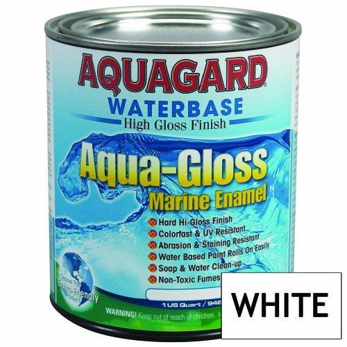 Aquagard Aqua Gloss Waterbased Enamel - 1Qt - White