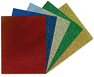 Hygloss Products Holographic Card Stock - Psychedelic Crafts Cardboard, 8-1/2 x 11 Inches - Sparkle, 5 Pack (35289)