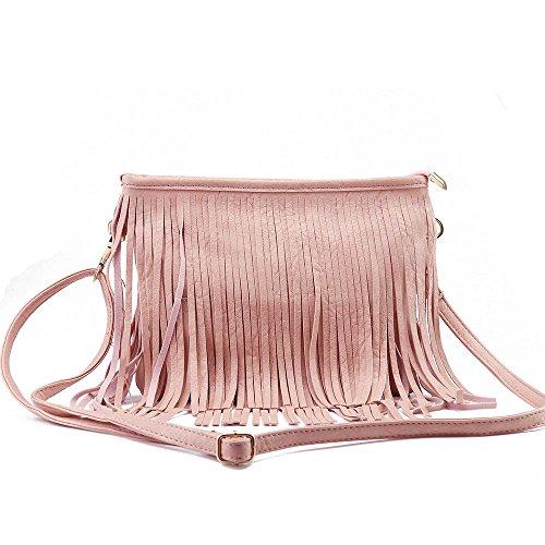 8818 Tassel Pink bag crossing crossing Tassel bag bag crossing 8818 Pink Oxdndz8v