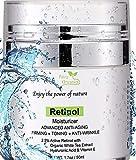 Petra Organics Retinol Cream for Face and Eye Area - with Retinol, Hyaluronic Acid, Shea Butter & Vitamin E - Advanced Anti Aging Cream - Night Cream Repair - 1.7oz / 50ml