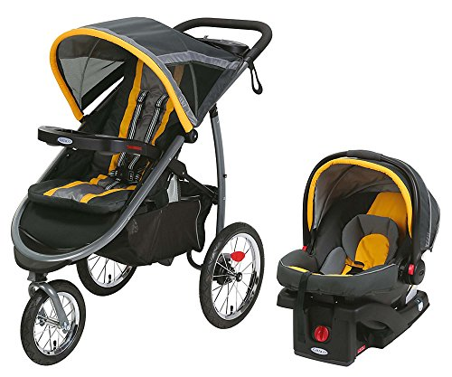 Graco FastAction Jogger Travel System or SnugRide Click Connect 35 Elite, Sunshine by Graco