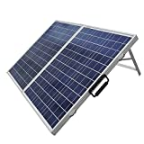 ECO-WORTHY 100 W Watt Portable Kits -100W 2x50W Folding PV Solar Panel 12V RV Boat Off Grid W 15A Charge Controller