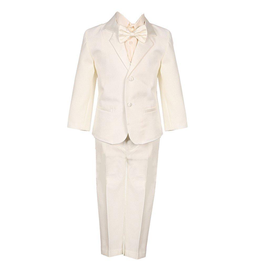Big Boys Ivory 5 Piece Vest Jacket Pants Special Occasion Tuxedo Suit 8-14 Rafael Collection