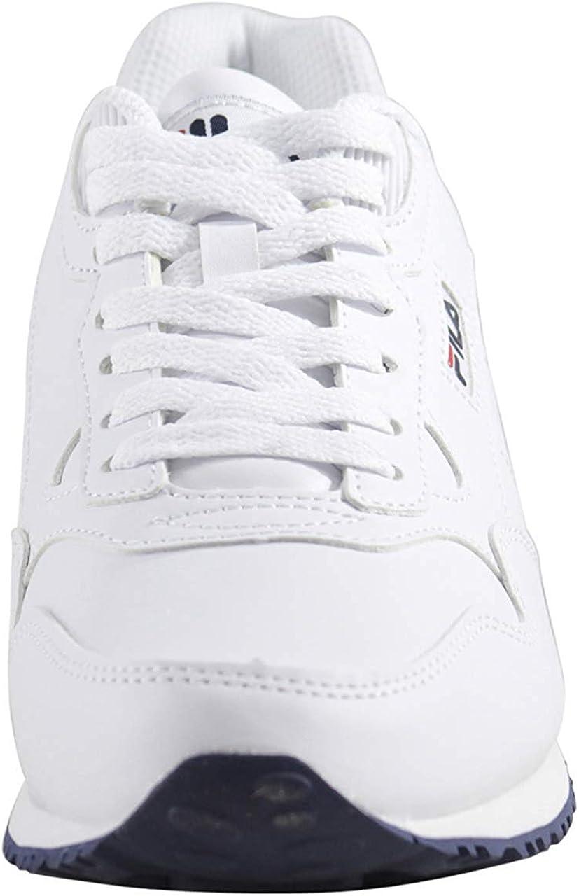 Fila Women's CRESS Walking Shoe White/Navy/Red