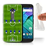 STUFF4 Gel TPU Phone Case / Cover for Motorola Moto X Play 2015 / 4-4-2/Blue Design / Football Formation Collection