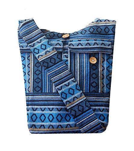 fashion women tote Shoulder Crossbody bag Blue Handbags hobo casual bags girl messenger Handmade school for travel POwUnEPq