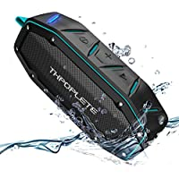 Waterproof Speakers, Thpoplete Portable IPX6 Water Resistant Wireless Bluetooth 4.1 Speaker with Dual 5W Driver Up to 15 Hours Play Time, Built-in Mic / Super Loud Sound for Outdoor, iPhone, Android