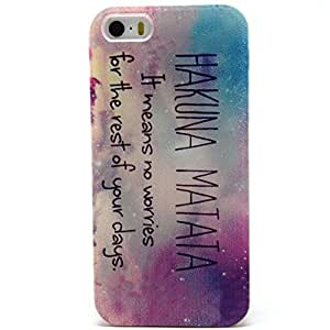 For Iphone 5S Case,[XYX] Star hakuna matata Graphic Soft Silicone Protector Skin Cover Case For Apple Iphone 5 5S + cellphone mount