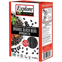 Explore Cuisine Organic Black Bean Spaghetti Pasta 8oz - Pack of 6