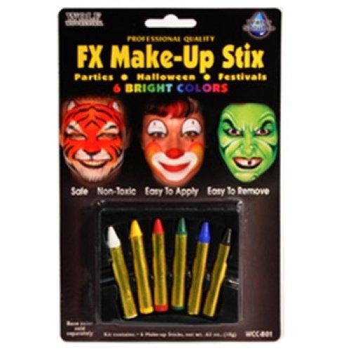 Wolfe Bright Face Paint Makeup Stix (6/box)