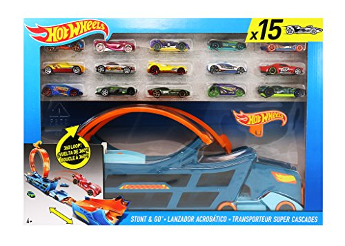Stunt Track (Hot Wheels Stunt & Go Track Set With 15 Cars)