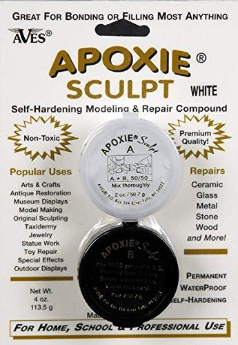 Apoxie Sculpt 1/4 lb. White, 2 Part Modeling Compound (A & -