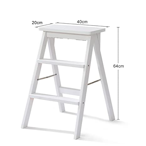 Pleasant Amazon Com Ms White Solid Wood Step Stool Ladder For Adults Short Links Chair Design For Home Short Linksinfo