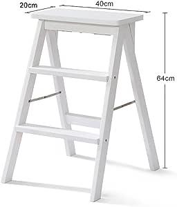 Escalera de Taburete de Madera Maciza Blanca para Adultos Escalera de Madera de Cocina Taburete Plegable portátil Taburete de Taburete multifunción de Altura pequeña Durable (Color : #1): Amazon.es: Juguetes y juegos