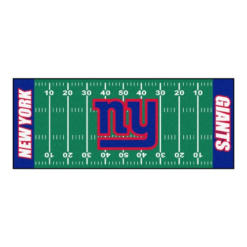 Giants Nylon Face Football Field Runner (Nfl Home Field Rug)