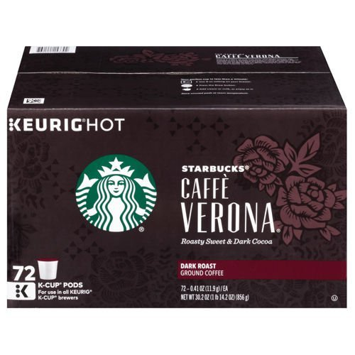 Starbucks Caffe Verona K-Cups, 72 Count (Packaging May Vary) by Starbucks