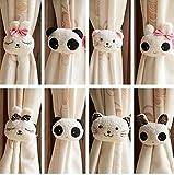 EleCharm Ayygift Set of 8 Different Lovely Curtain Tiebacks Cat Rabbit Panda Holdbacks Kid's Bedroom