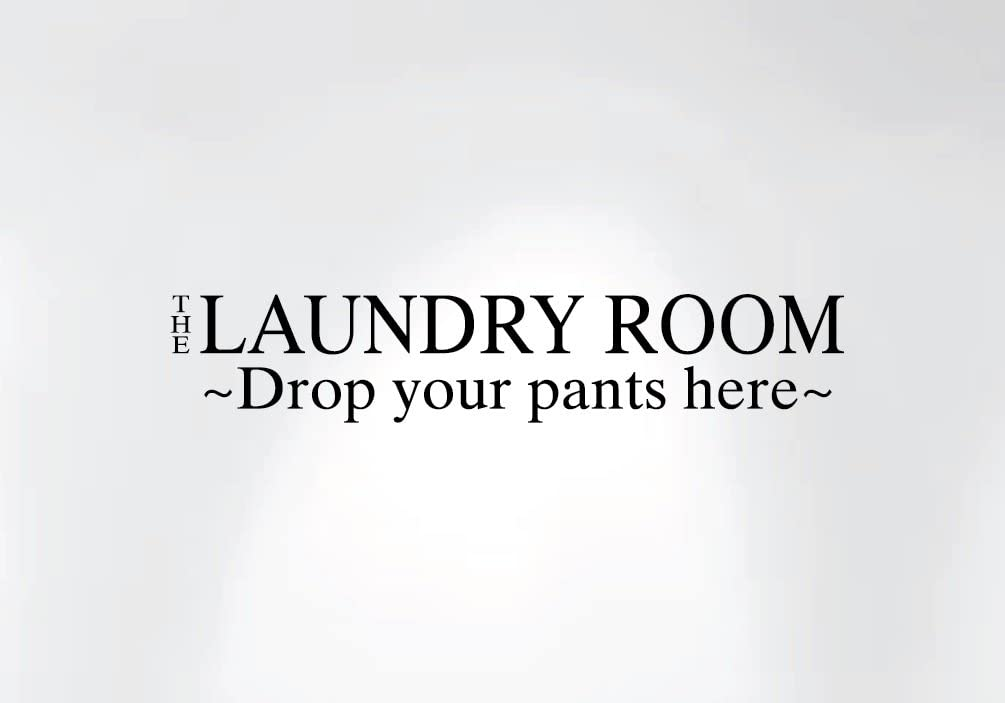 Innovative Stencils 1222 30 The Laundry Room Drop Your Pants Here Wall Decal Number 1222, 30-Inch x 5-Inch