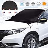 "Windshield Snow Cover, Lypumso Windshield Cover Keep your Vehicle Exterior Frost Free and Clean, Blocking the heat of the sun, blocking snow, fallen leaves, bird excrement. Elastic Hooks Design Will Not Scratch Paint, Fits Most Car with (85"" x 49"")"