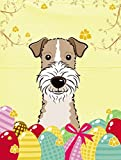 Caroline's Treasures BB1929GF Wire Haired Fox Terrier Easter Egg Hunt Garden Flag, Small, Multicolor
