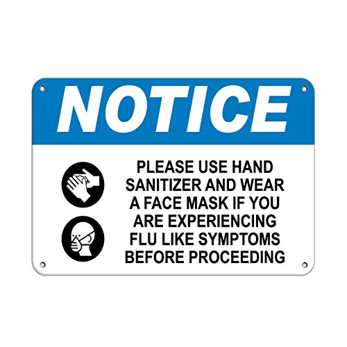 Notice Please Use Hand Sanitizer and Wear A Face Mask Vinyl Sticker Decal 8