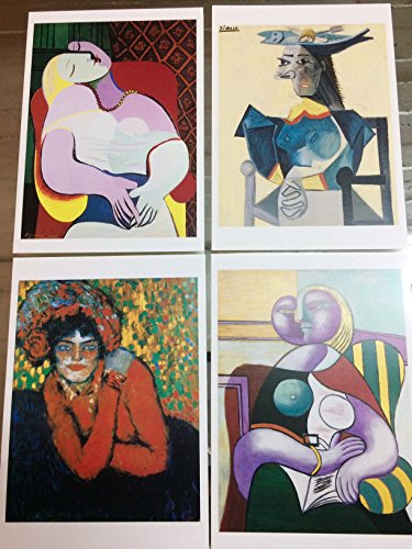Set - 4 Lot Pablo Picasso postales ---Postcards---Carte Postale--Postkarte. New. Lote.