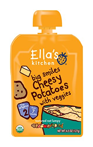 Ella's Kitchen Organic Stage 2, Cheesy Potatoes with Veggies, 4.5 Ounce (Pack of 6)