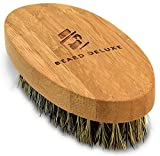 Beard Deluxe - Beard Brush For Men - Natural Bamboo Handle & 100% Boar Bristles - Perfect For Facial & Scalp Hair Combing & Grooming - Gift Box & Cotton Pouch Included offers
