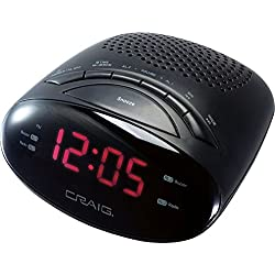 Craig Desktop Clock Radio - 0.5 W RMS - Mono CR45329B