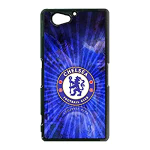 Official Chelsea Football Club FC Logo Sony Xperia Z2 Compact Mini Cell Phone Case Cover Official EPL FC Series Special Design Chelsea FC Logo Phone Case
