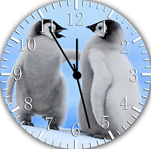 Borderless Cute Baby Penguins Frameless Wall Clock F09 Nice for Decor Or Gifts