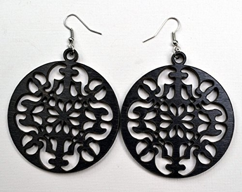 round-ornate-wood-earrings-from-black-maple-or-natural-mahogany