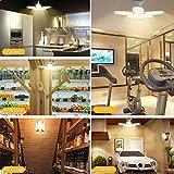 LED Garage Lights 2 Pack 80W Garage Light Warm