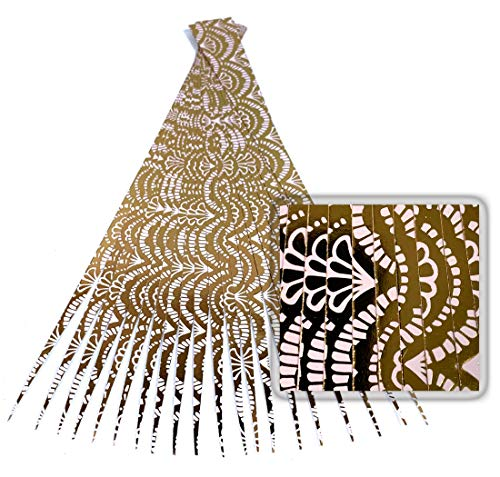 Paper Bead Beading Strips for Paper Beads Half Inch Precut Paper Strips with Gold Foil Laminate from Ground Zero Creations