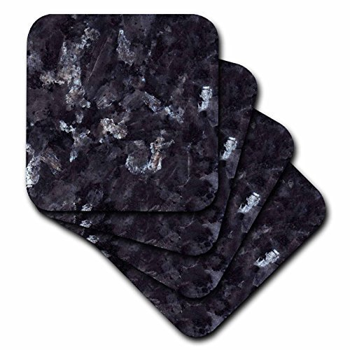 3dRose cst_97938_4 Blue Pearl Granite-Ceramic Tile Coasters, Set of (Coaster Pearl)