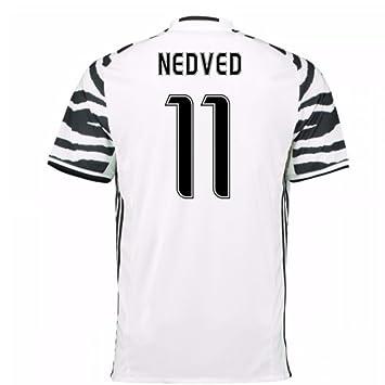 06fc52fe8 2016-17 Juventus 3rd Football Soccer T-Shirt (Pavel Nedved 11)   Amazon.co.uk  Sports   Outdoors