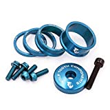 Wolf Tooth Precision Anodized Headset Spacers (Blue, Bling Kit) offers