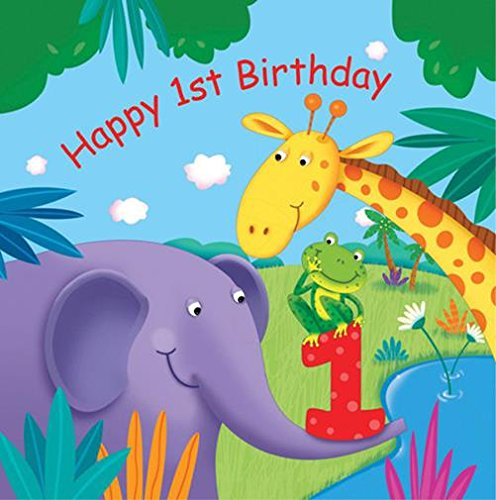16-Count Paper Lunch Napkins, Jungle Buddies First Birthday