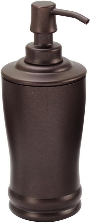 iDesign Olivia Metal Tall Soap Pump, Liquid Soap Dispenser Holds 8 Oz. for Bathroom, Kitchen Sink, Vanity, Bronze