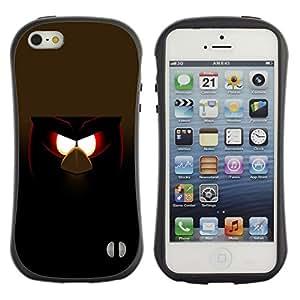 Be-Star Impreso Colorido Diseño Antichoque Caso Del iFace Primera Clase Tpu Carcasa Funda Case Cubierta Par Apple iPhone 5 / iPhone 5S ( Funny Evil Bird )