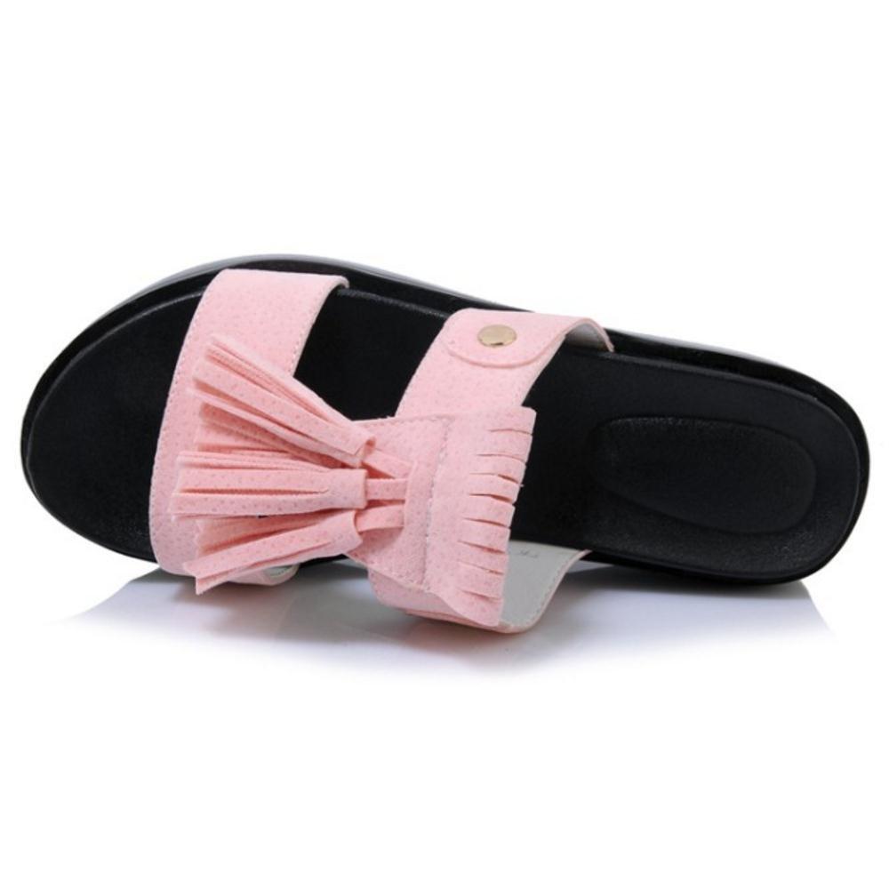 TAOFFEN Women's Slip On Slippers Sandals Flatform Slippers On B07BJXWYFK 3 US = 22 CM Pink 223a0b